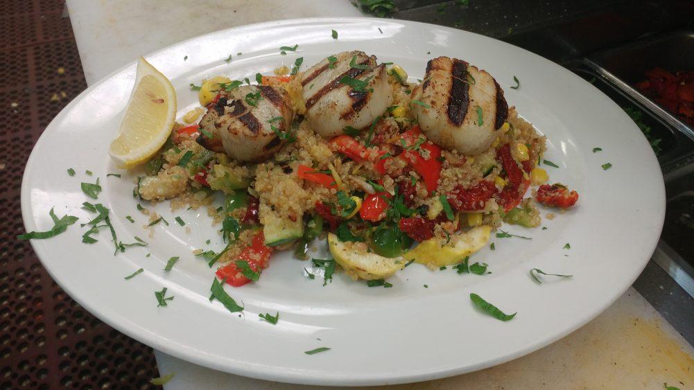 Scallops Quinoa